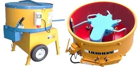 Pan Type Concrete Mixers
