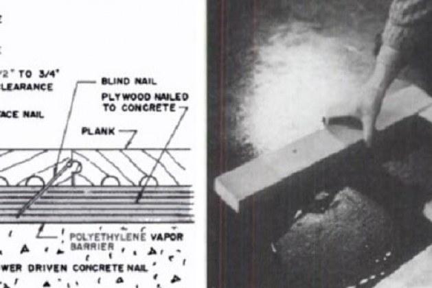 Installation of Wooden Flooring over Concrete Slab