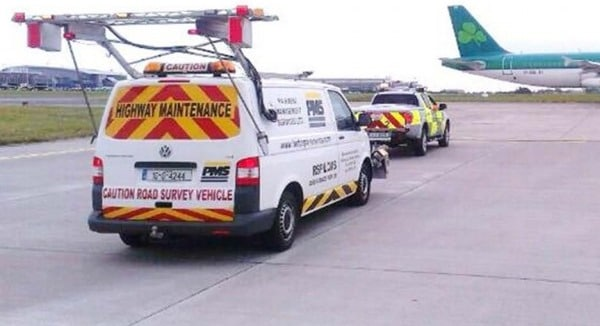 Inspection of Dublin Airport using Laser Crack Measurement System