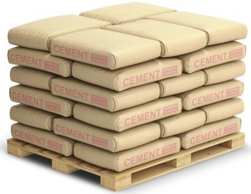Arrangement of Cement Bags