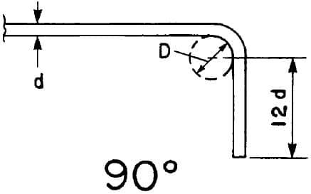 Standard hook, 90degree