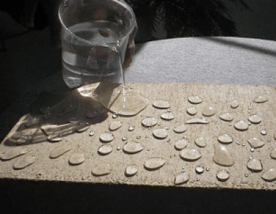 Water resistant concrete made of Hydrophobic cement.