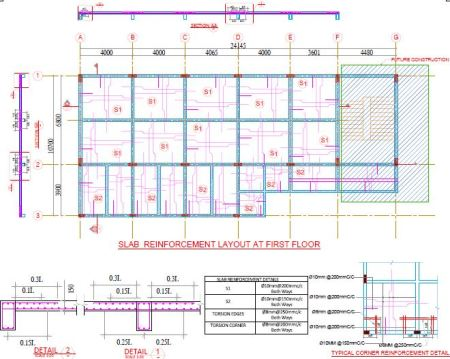 Roof Slab Layout