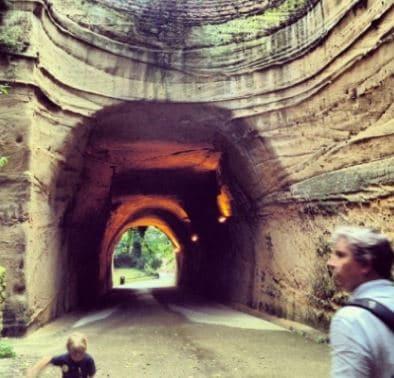 Tunneling work, sedimentary rock