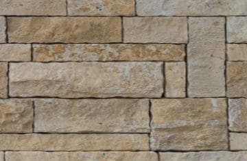 Wall constructed from sandstone