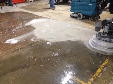 Wet Method of Polishing Concrete