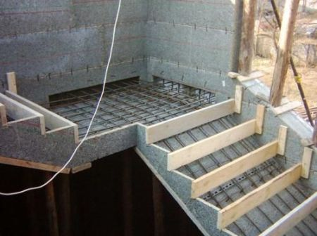 Form work for Stairs.