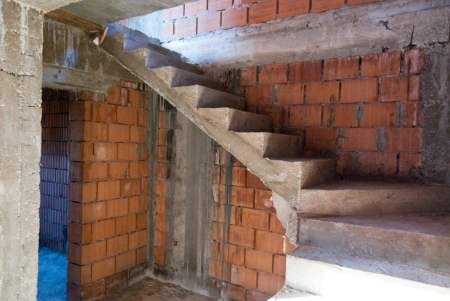 Concrete Stairs after formwork removal