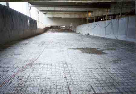 Surface preparation for laying topping concrete.