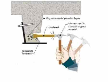 Compacting Dry Pack Mortar Layers
