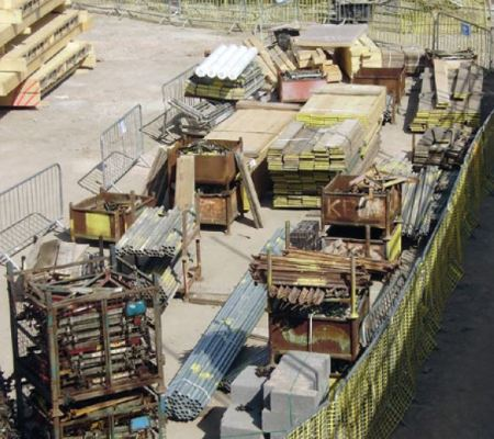 Dedicate Storage Area for Storing Construction Materials