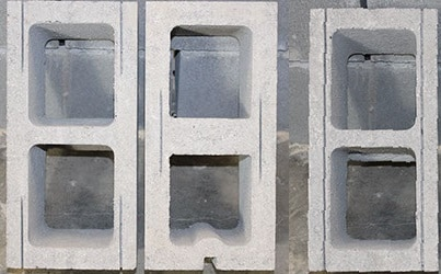 Prepared Concrete Blocks to be Laid with Spacers