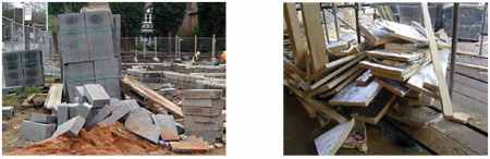 Untidiness on Project Site, Bad Material Management