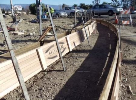Wood form fixed after subgrade prepared