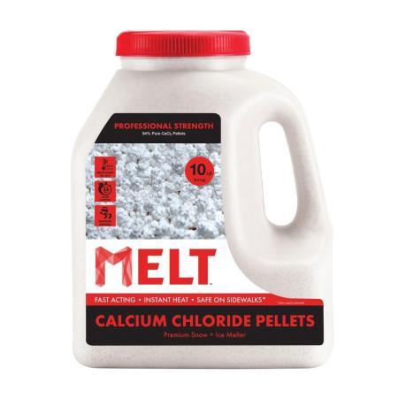 Market available pellet form calcium chloride for concrete