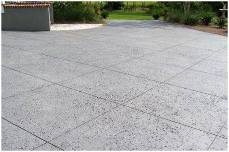 Salt Finish concrete drive way.