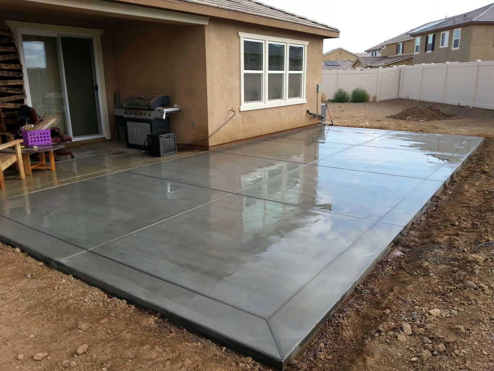 Garage Concrete Floor Slab - Construction, Thickness and Cost on Concrete Slab Backyard Ideas id=42299