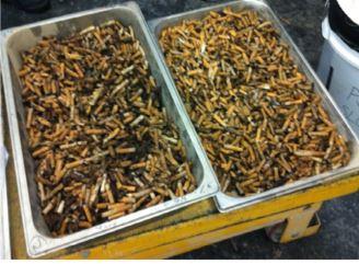 Prepared Cigarette But for Brick Production