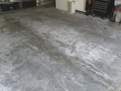 Concrete slab suffered from moisture problems