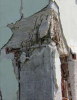 Damage at Column Beam Joint Due to Improper Detailing