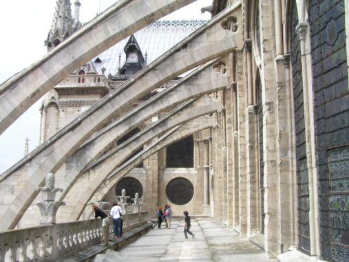 Flying buttress of Notre Dame de Paris