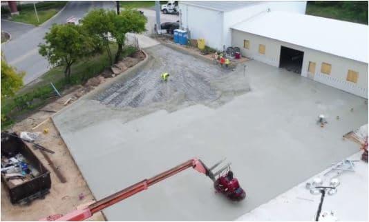 Concrete Parking Lot Construction- Concrete Placing and Finishing