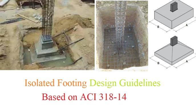 Isolated Footing Design Based on ACI 318