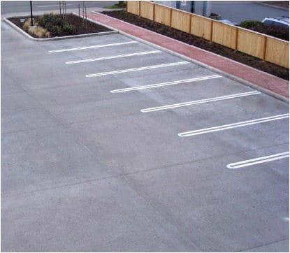 Concrete Parking Lot Markings
