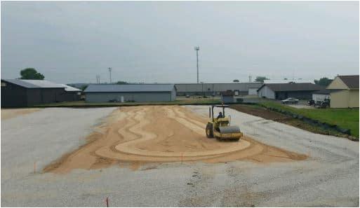 Concrete Pavement Parking Lot Construction- Subgrade Preparation