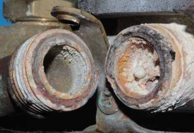 Selective Corrosion of Brass Pipe