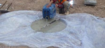Water Reference Level Indicator is Set and Water Pouring Starts