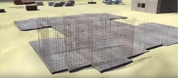 Reinforcing steel of walls
