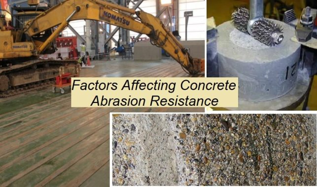 Factors affecting abrasion resistance of concrete