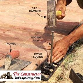 Fixing of Paver Edges