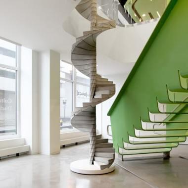 Concrete Spiral Stair with Center Column