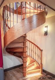 Spiral wooden staircase