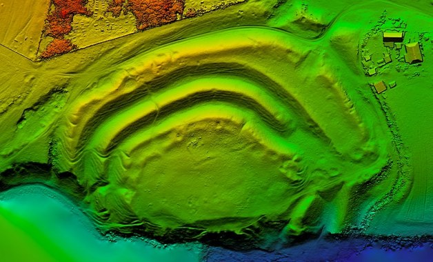 Digital Elevation Model created using data collected by a drone.