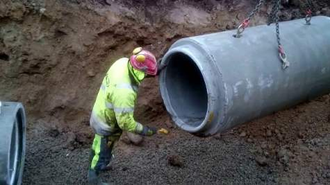 Laying and Jointing of Concrete Pipes