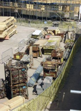 Well Planned and Flexible Construction Site; Scaffold planks and Tubes are Close to Erection Area, and Other Materiasl are Placed in Open Boxes