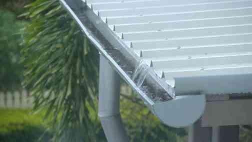 Gutter of Galvanized Steel Sheet Roofing