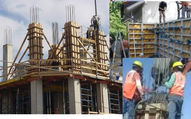 How to pour concrete columns and walls
