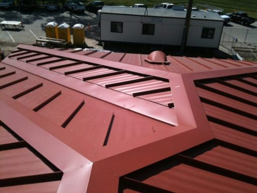Ridges and Hips of Galvanized Steel Sheet Roofing