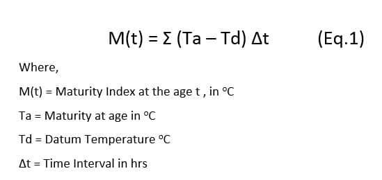 Maturity Index formula