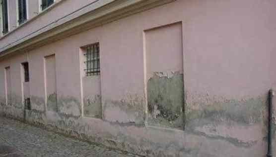 Dampness causes removal of paints of walls.