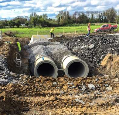 Backfilling for Concrete Pipes; Image Courtesy: Tracey Concrete