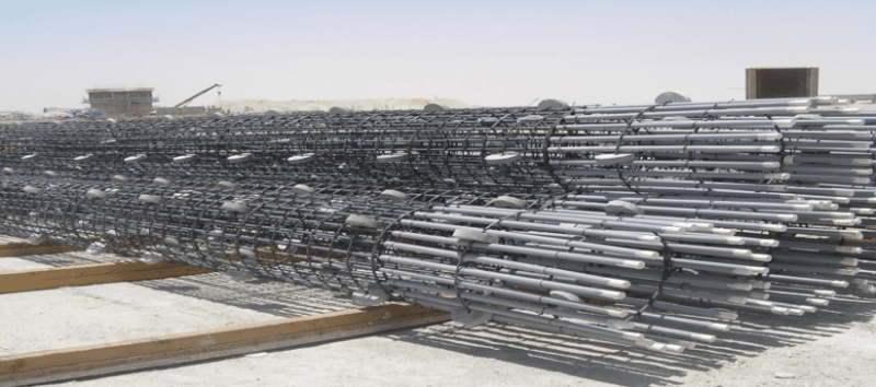 How pile cages are stored by Civil Engineers