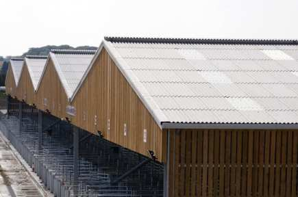 Corrugated Asbestos Cement Sheet Roofing in Industrial Buildings