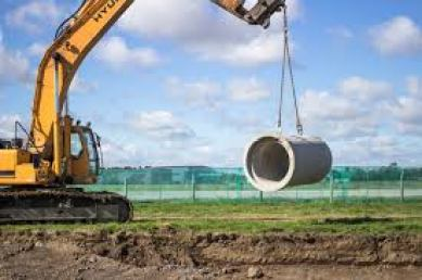 Handling Concrete Pipes