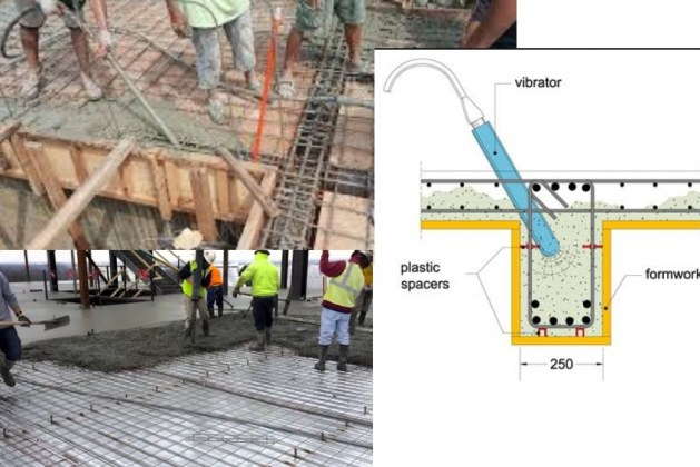 How to Pour Concrete for Horizontal Elements?