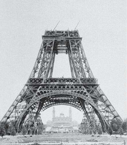 construction till 2nd floor level of Eiffel tower